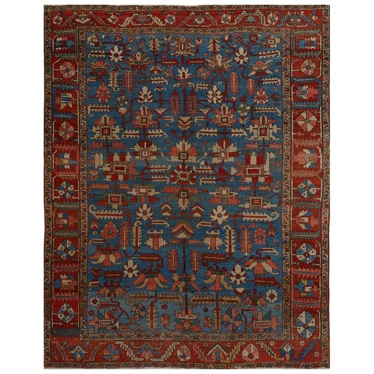Antique Persian Heriz Rug Bb2402: Antique Heriz Serapi Rug At 1stdibs