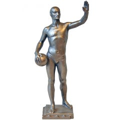 A 1960s Russian Water Polo Player Statuette