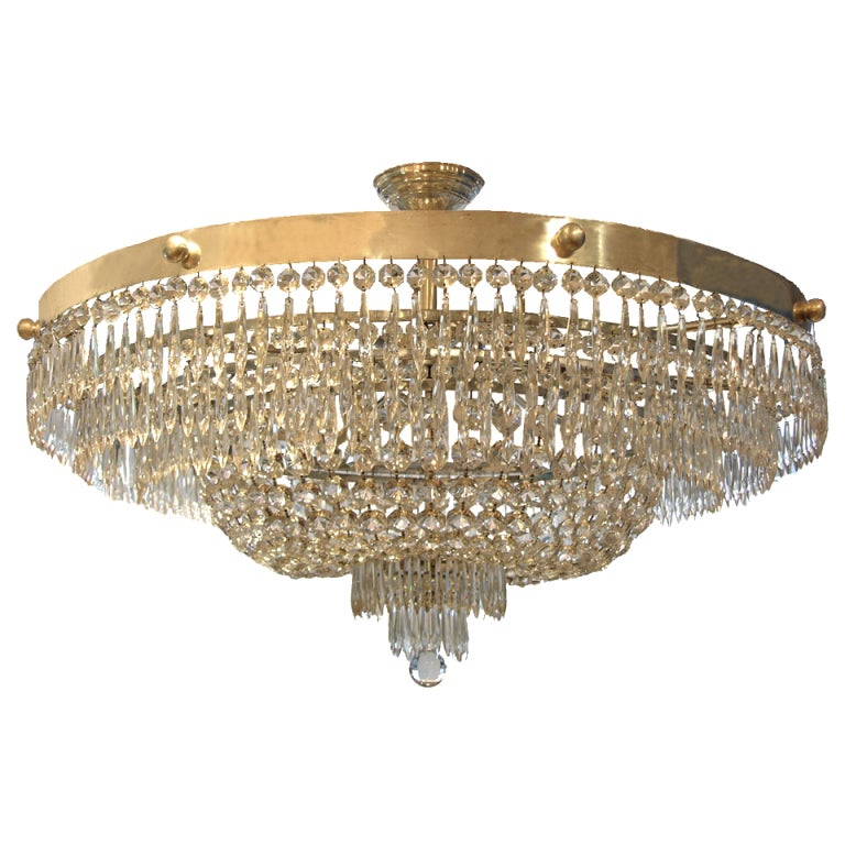A Large Bag Ballroom Chandelier At 1stdibs