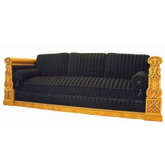 A Large German Biedermeier Sofa Circa 1830's
