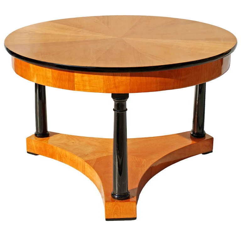 19th century biedermeier ash round table at 1stdibs for Center coffee table furniture