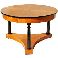 A German Biedermeier Cherrywood Coffee Table
