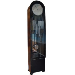 An English Art Deco Longcase Clock Circa 1930's