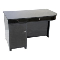 A Swedish Black Lacquer Desk Circa 1940's