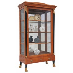 An Austrian Cherrywood Biedermeier Display Cabinet Circa 1910