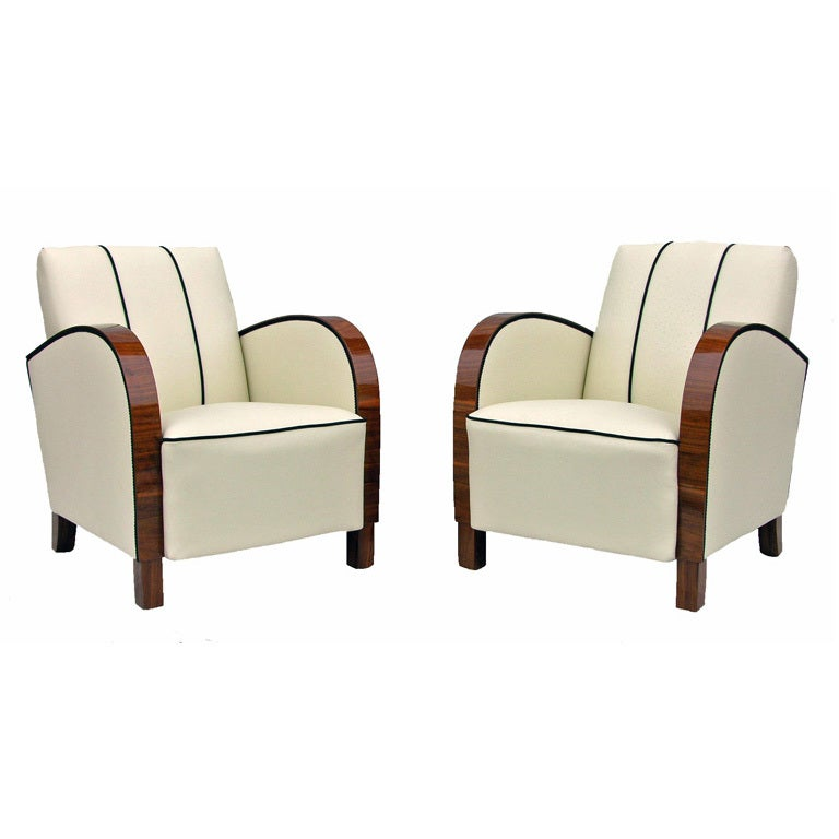 Pair of art deco armchairs at 1stdibs for Sofa jugendstil