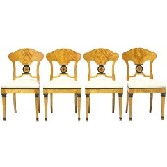 A Swedish Set of Four Biedermeier Chairs Signed Nordiska Kompaniet c. 1920's