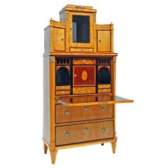A German Biedermeier Secretaire Circa 1820
