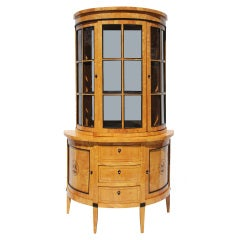 A German  Biedermeier Display Cabinet
