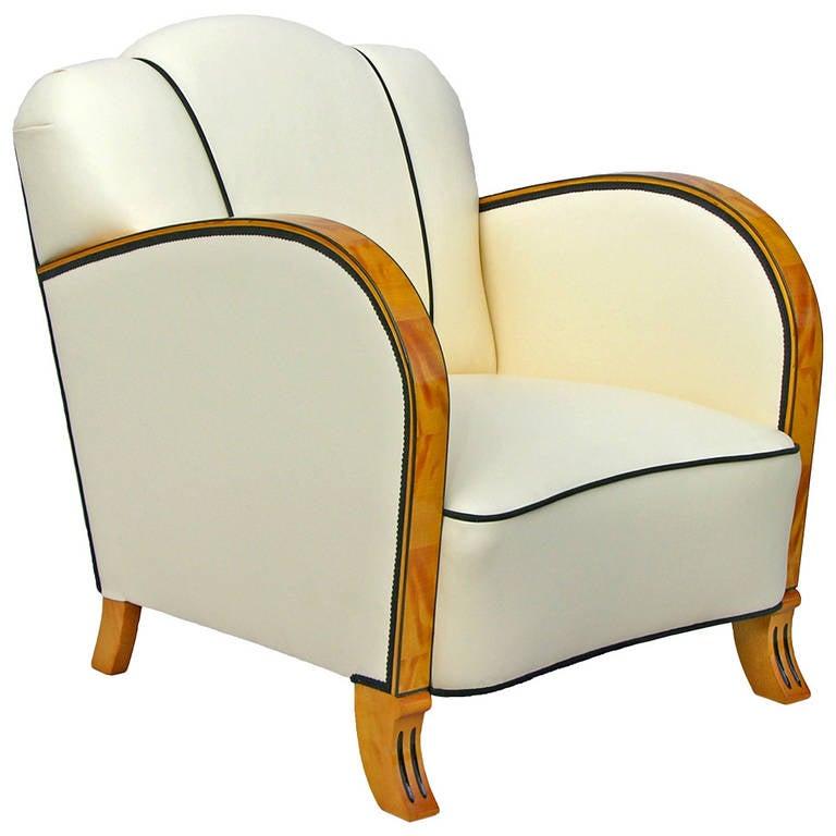 20th century art deco birchwood armchair at 1stdibs