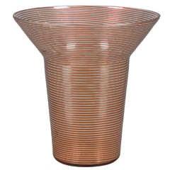 Czechoslovakian Red Glass Vase
