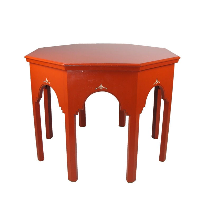 german art deco orange lacquer table at 1stdibs. Black Bedroom Furniture Sets. Home Design Ideas