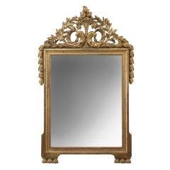 A French Louis XVI Giltwood Mirror