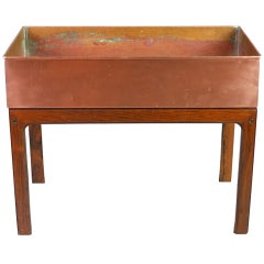 Danish Modern Wood and Copper Jardinière