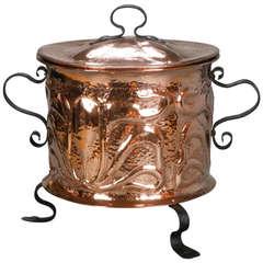 Art Nouveau Copper Pot