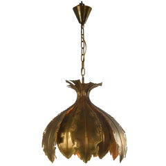 A Danish Patinated Metal Lotus Lantern by Holm Sørensen
