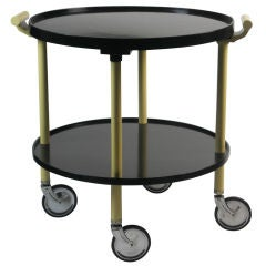 A German Art Deco Tray Table on Casters