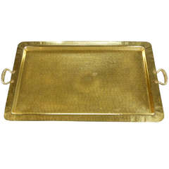 Arts and Crafts Brass Tray