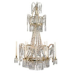 A Russian Neoclassical Cut Glass Chandelier
