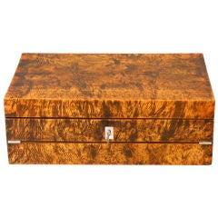 A Charles X Burlwood Box