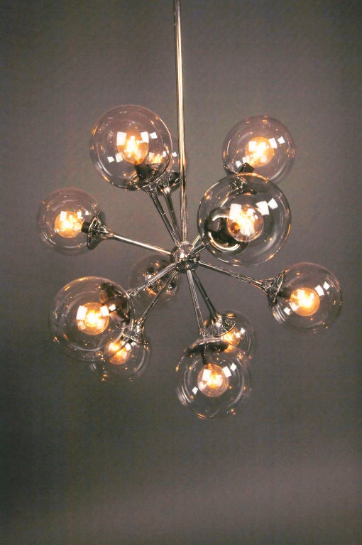 A Nickel Plated Chandelier image 3