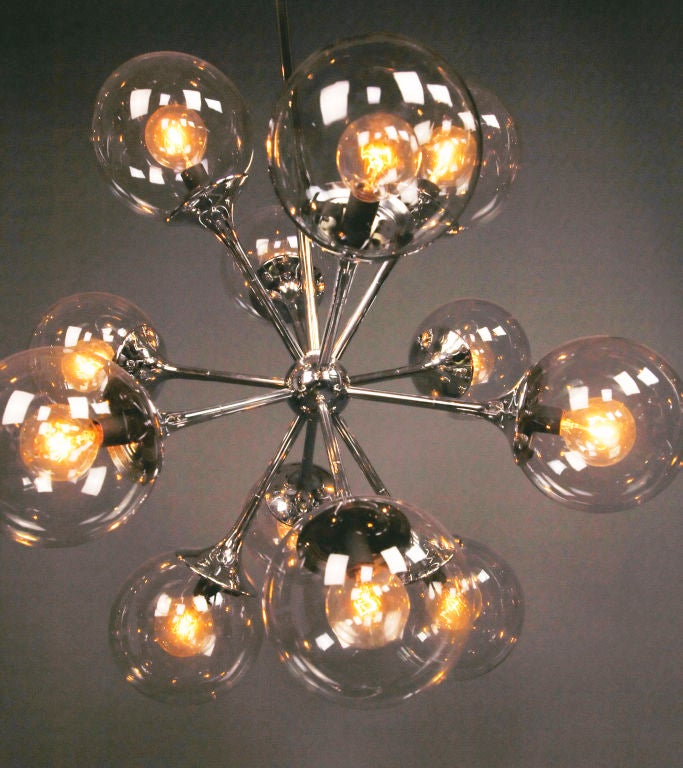 A Nickel Plated Chandelier image 4