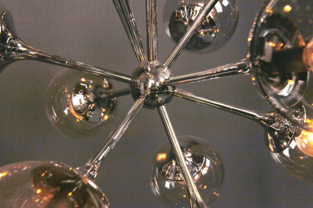 A Nickel Plated Chandelier image 5
