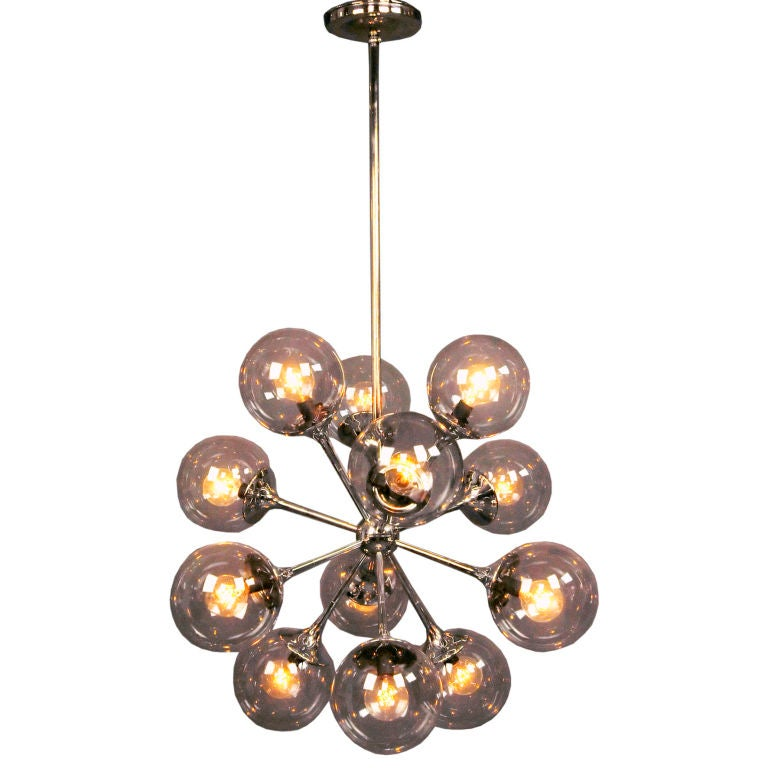 A Nickel Plated Chandelier 1