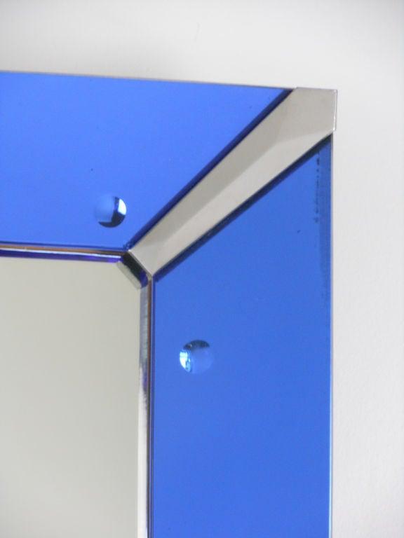 An Italian Blue Glass Mirror At 1stdibs