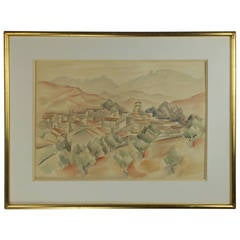Landscape in Watercolor by André Lhote, Signed