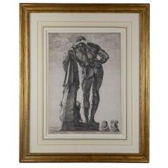 The Farnese Hercules: An Engraving by Hendrick Goltzius