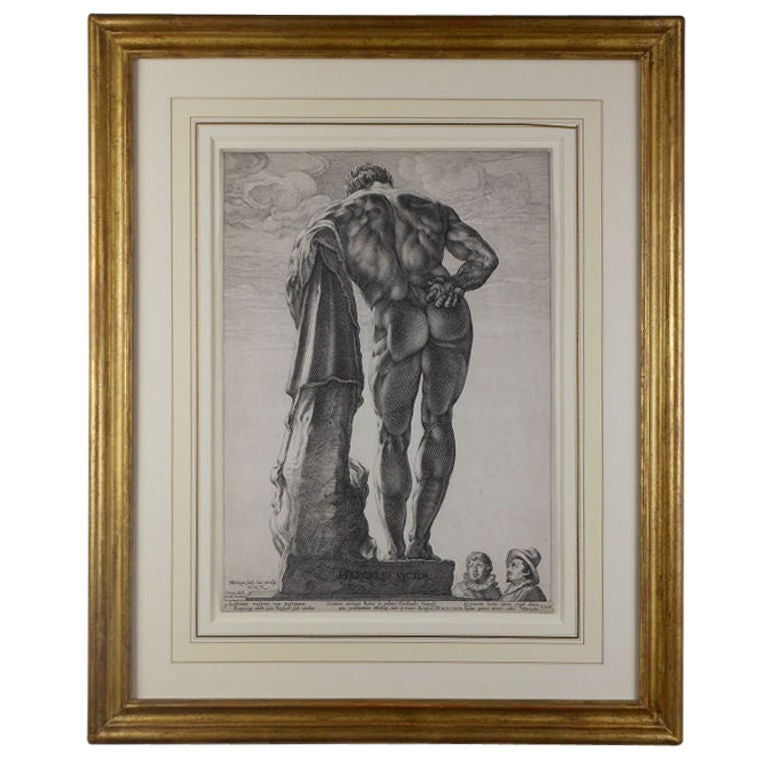 Farnese Hercules, an Engraving by Hendrick Goltzius