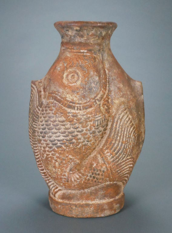 A Large French Terra Cotta Fish Vase At 1stdibs