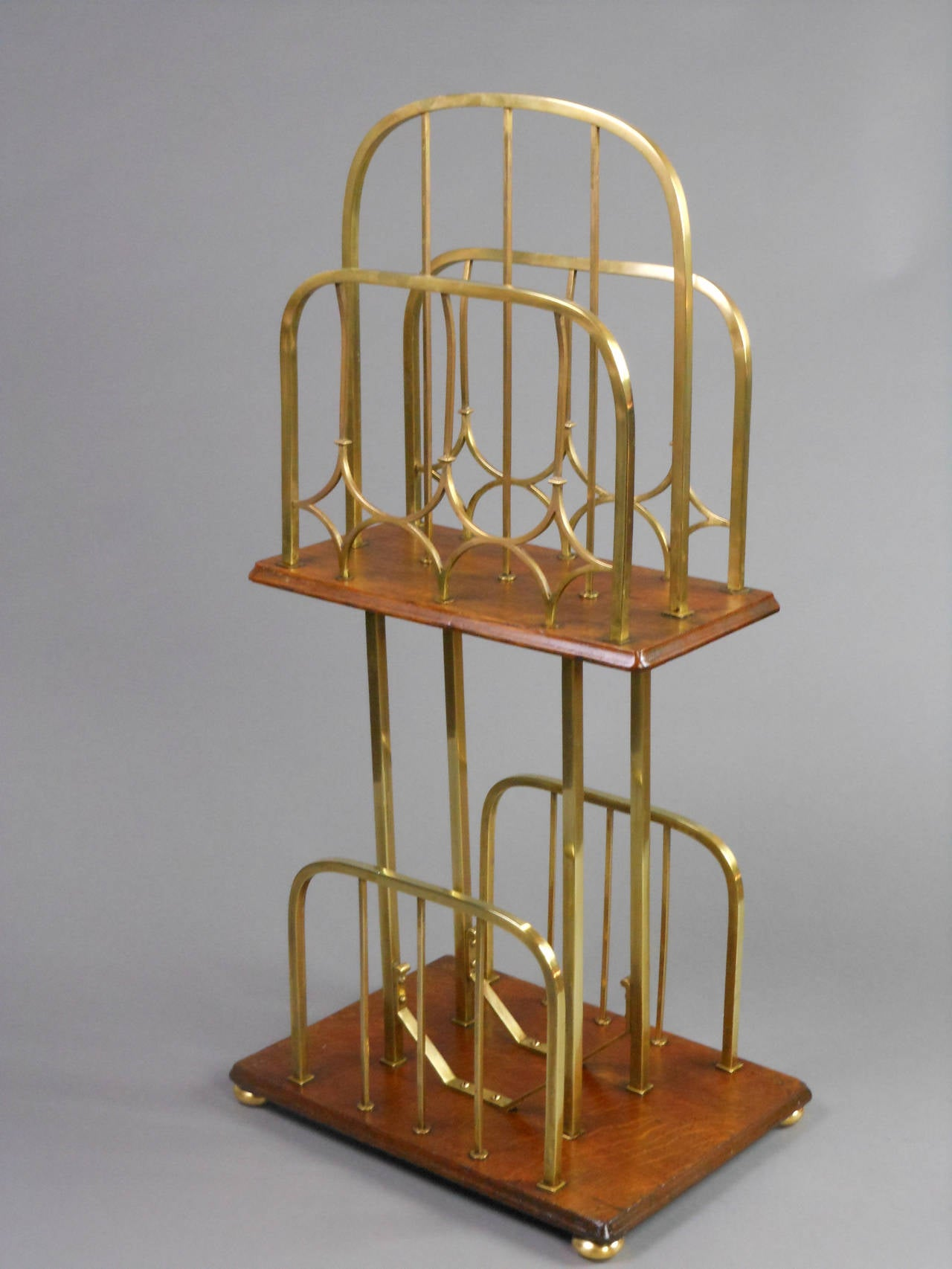 Arts and crafts brass and oak magazine stand for sale at for Arts and crafts for sale