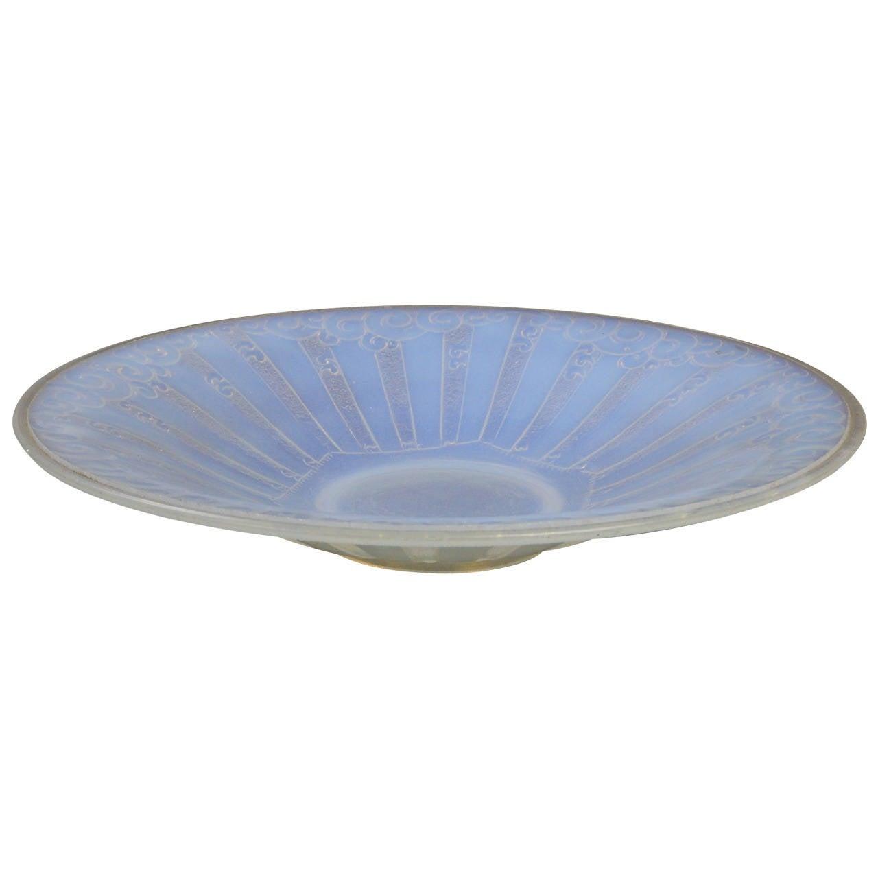 art deco glass bowl. Black Bedroom Furniture Sets. Home Design Ideas