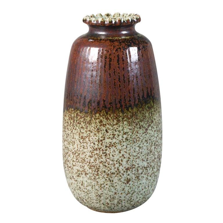 a canadian earthenware vase by luke lindoe at 1stdibs. Black Bedroom Furniture Sets. Home Design Ideas
