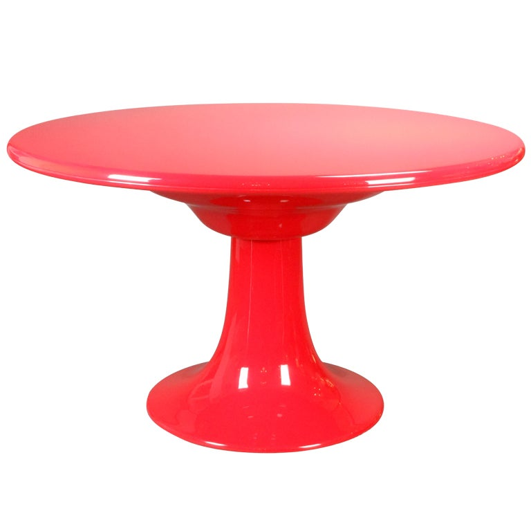 A Rare German Red Fiberglass Dining Table By Otto Zapf At 1stdibs