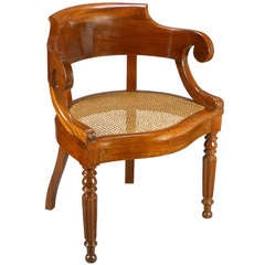 French Neoclassical Mahogany Armchair