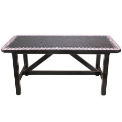 Danish Modern Tile Top Table by Bjorn Wiinblad