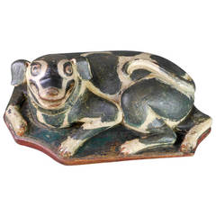 Indonesian Large Betel Nut Box in the Form of a Dog