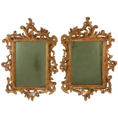 Rococo Pair of Giltwood Mirrors