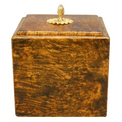 A Swedish Neoclassical Burl Alroot Tobacco Box