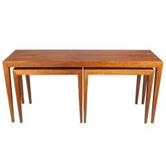 Set of Three Danish Hardwood Nesting Tables by Severin Hansen