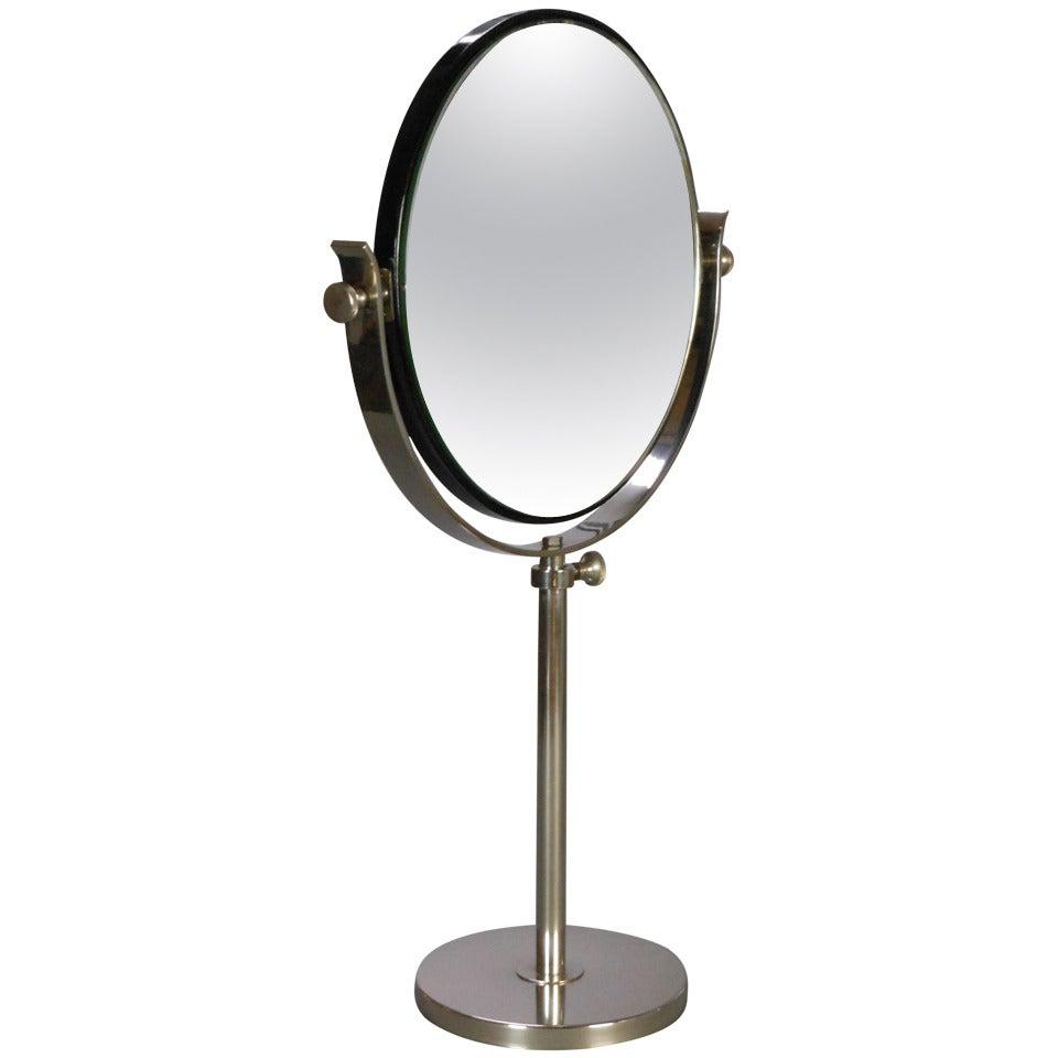 Swedish Art Deco Chrome Vanity Mirror