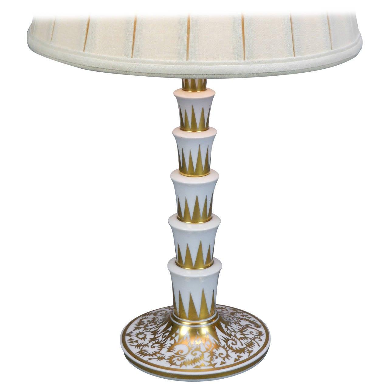 German Porcelain Lamp by Rosenthal