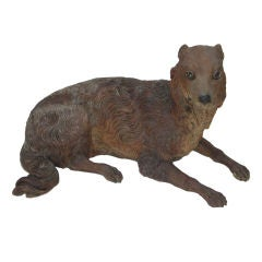French Terra Cotta Sculpture of a Dog