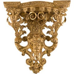 French Regence Giltwood Bracket