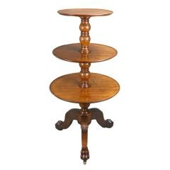 A French Neoclassical Mahogany Three-Tier Etagere