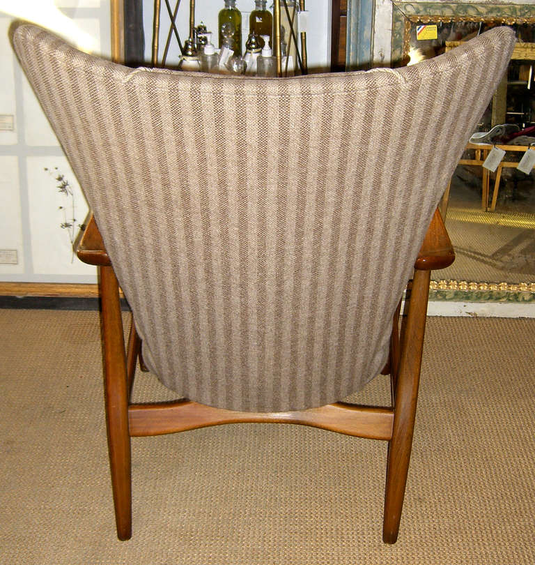 Danish Modern Wingback Armchair by Bovenkamp In Good Condition For Sale In Mt Kisco, NY