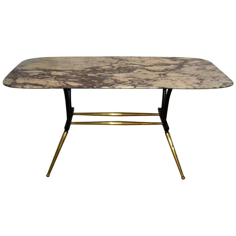 Mid Century Italian Marble Top Cocktail Table At 1stdibs
